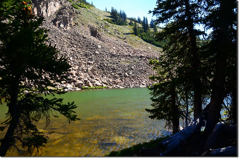 The unnamed lake #1 at the upper reaches of Current Creek (1)