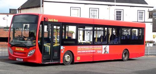 YX14 RZA 'D&G Bus' No. 107, Stoke on Trent. Alexander Dennis Ltd. (ADL) E20D / 'ADL Enviro 200 on Dennis Basford's railsroadsrunways.blogspot.co.uk'