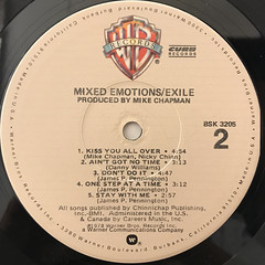 EXILE:MIXED EMOTIONS(LABEL SIDE-B)