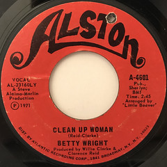 BETTY WRIGHT:CLEAN UP WOMAN(LABEL SIDE-A)