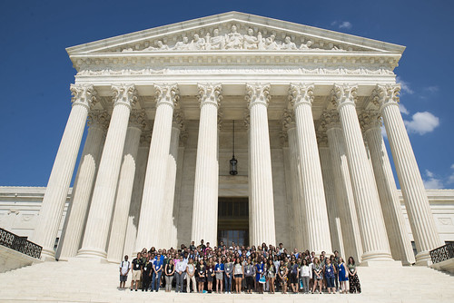 #NSLCLAWA students visit the Supreme Court