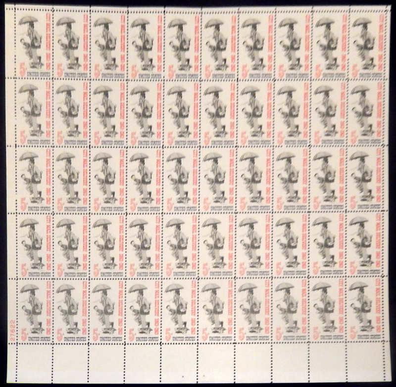 United States - Scott #1238 (1963) post office pane of 50