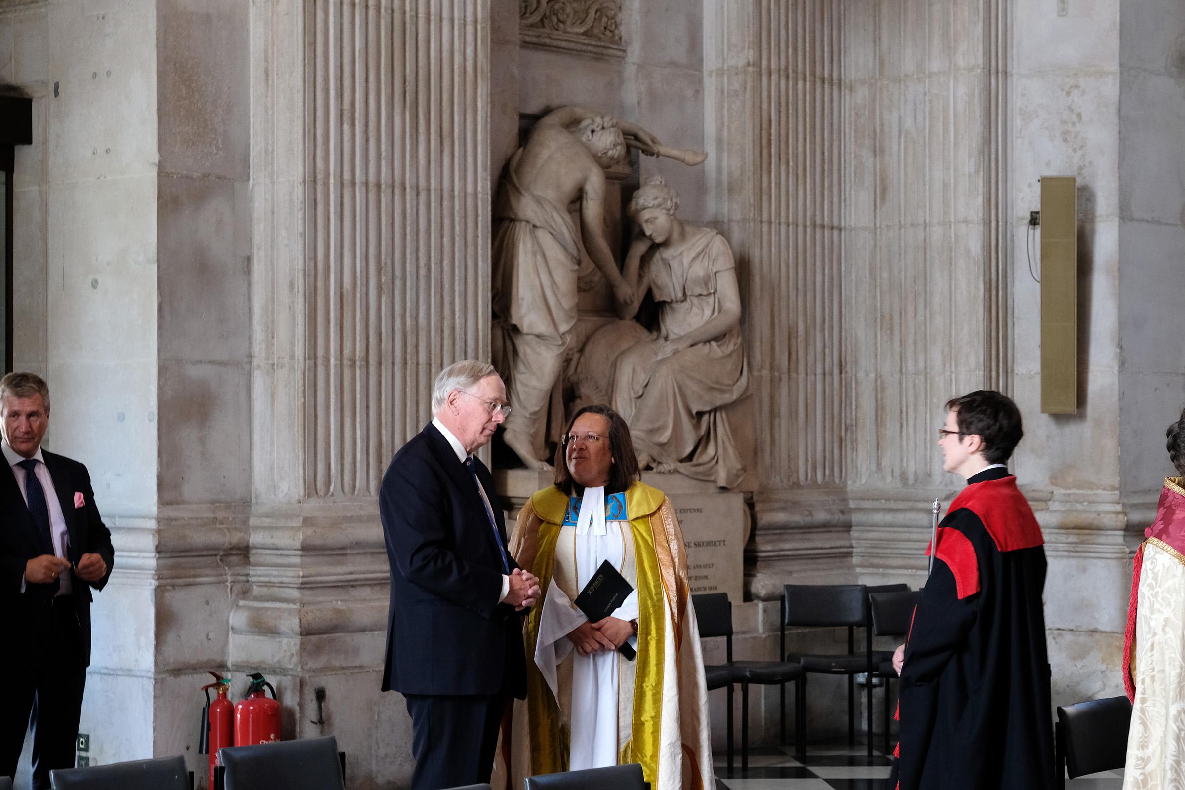 HRH the Duke of Gloucester, Rev Canon Tricia Hillas