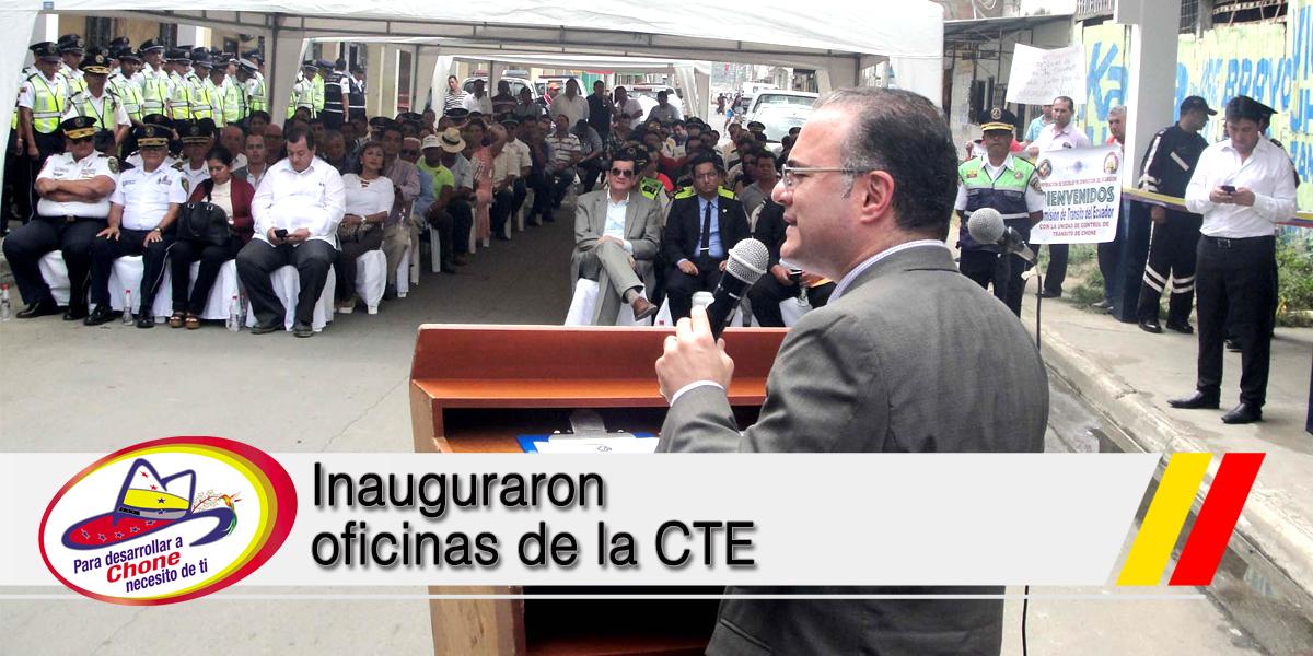 Inauguraron oficinas de la CTE