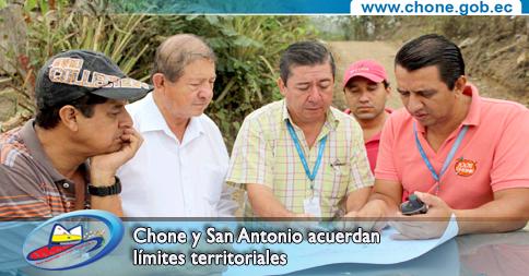 Chone y San Antonio acuerdan límites territoriales