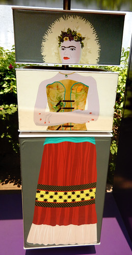 Frida Kahlo's style of dress was distinctive as shown in the Casa Azul museum