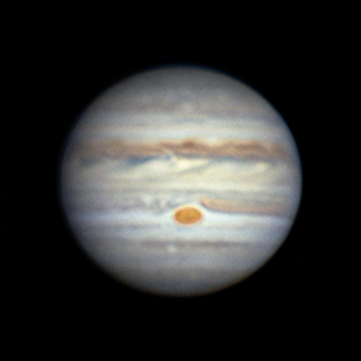 木星 (2018/7/15 20:48-20:55)(20:51, LRGB by WinJUPOS (Lx3, RGBx3 de-rotation))