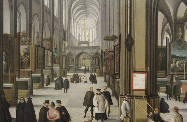 Detail - Interior of a Medieval Church, Hendric van Steenwijck d.A., c.1585