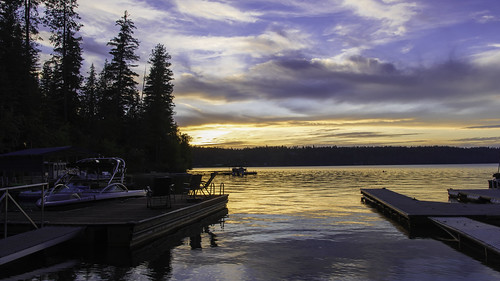 haydenlake landscape lake stevejordan sky sunset silhouette dock boat trees punahou77 pines reflection roadtrip nature nikond500 nikon night idaho