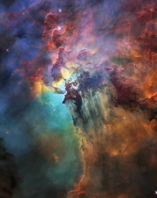 Hubble's 28th birthday picture: The Lagoon Nebula