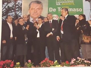 Vito De Tommaso in uno storico comizio, nel 2008