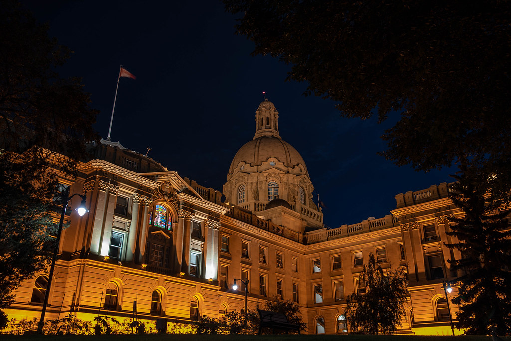 Alberta Legislature Building @ Night - South East