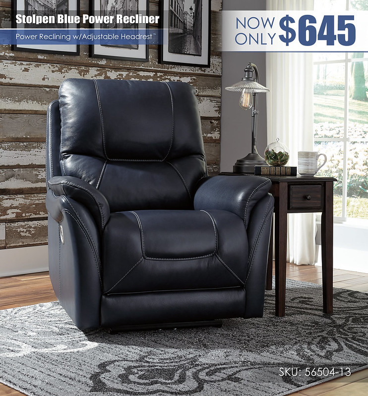 Stolpen Blue Power Recliner_56504-13