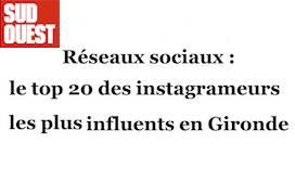 Les instagrammeurs les plus influents de Gironde