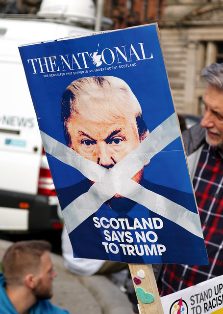 Scotland Against Trump protest