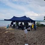 Am Strand am 21. Juli 2018 in Salavaux