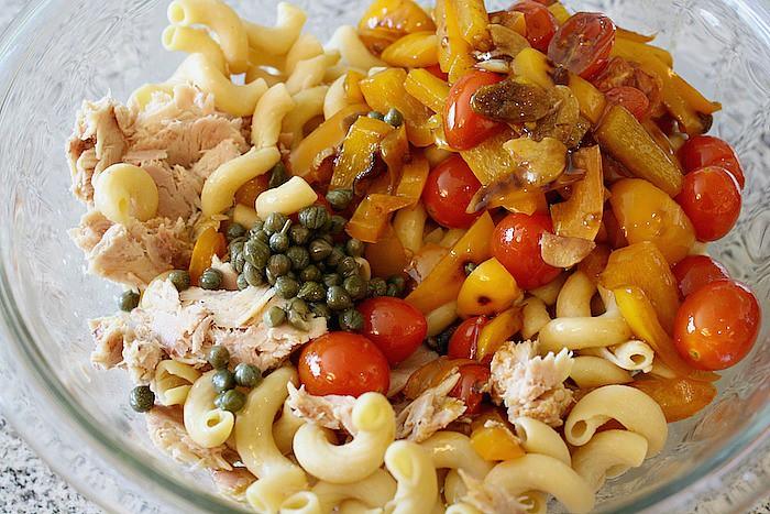 Summer Veggie Tuna Pasta