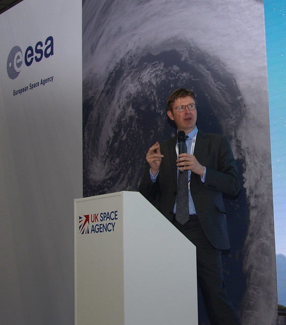 The Rt Hon Greg Clark, Secretary of State for Business, Energy and Industrial Strategy at the Space Zone, FIA 2018