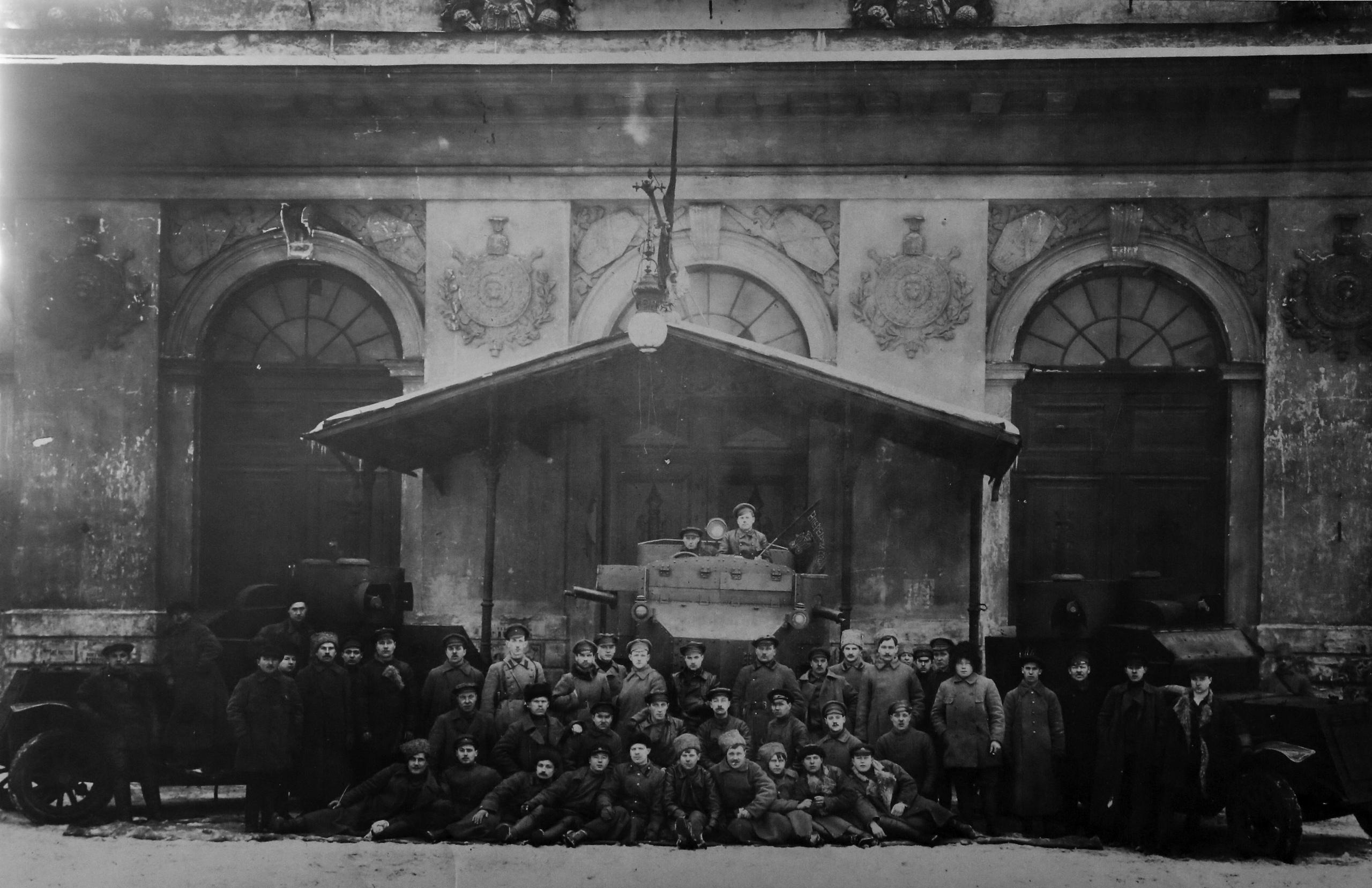 Бронированный отряд. Петроград. 6 марта