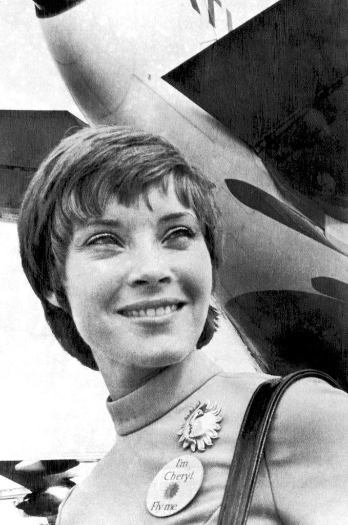 National Airlines stewardess Cheryl Fioravante, subject of the 1971 Fly Me ad campaign, in Miami.