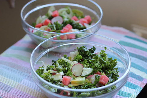 Watermelon salad bowls