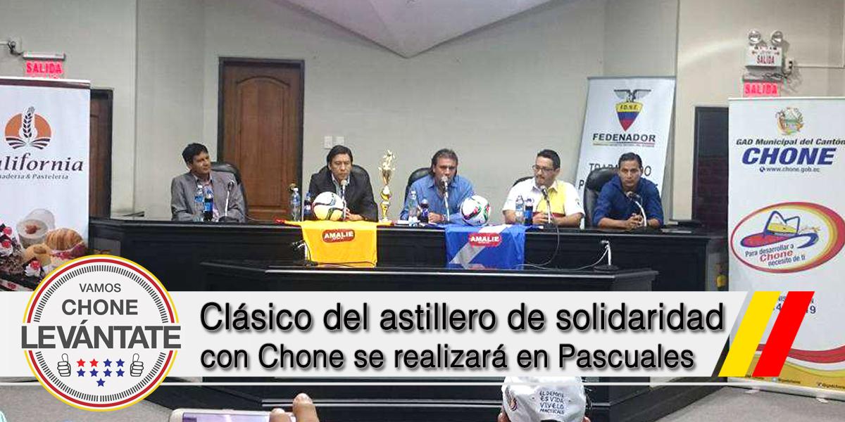 Clásico del astillero de solidaridad con Chone se realizará en Pascuales