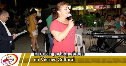 Exitosas participaciones en Viernes Cultural
