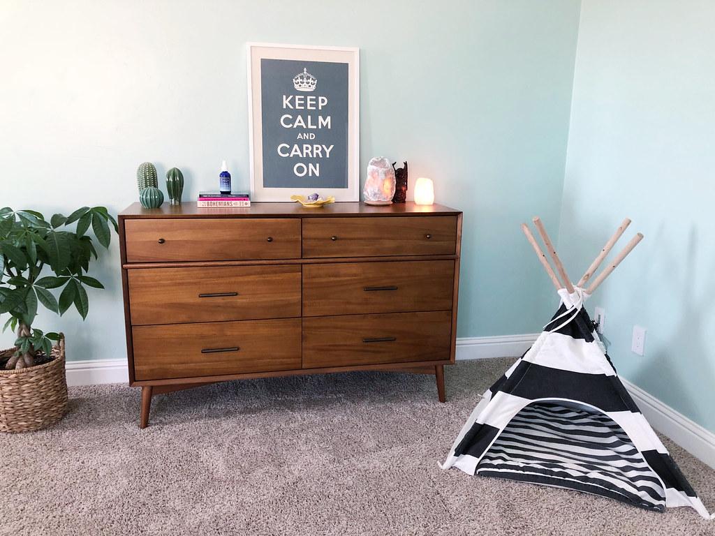 My dresser plus Mr. Big's teepee