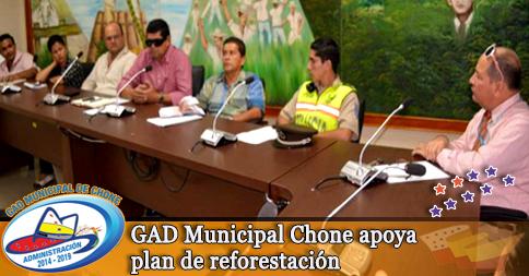 GAD Municipal Chone apoya plan de reforestación