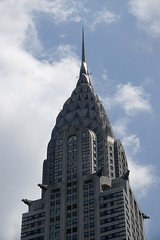 Chrysler Building with stainless steel gargoyles