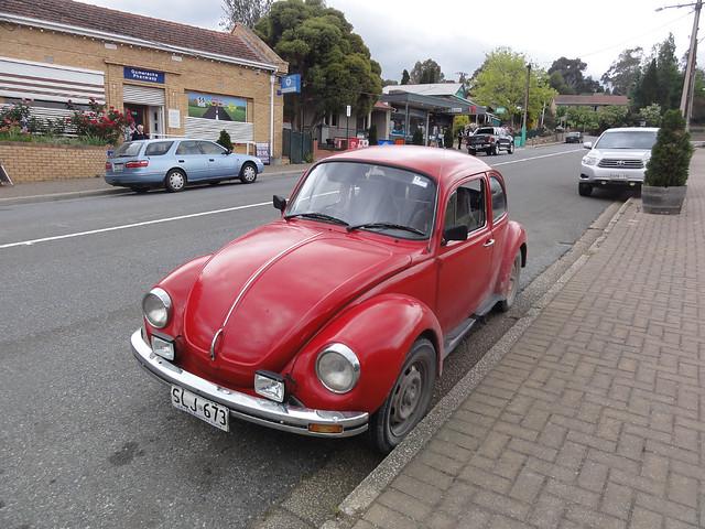 Red VW Beetle in, Sony DSC-HX5V