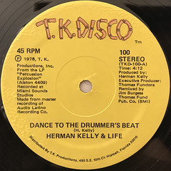 HERMAN KELLY & LIFE:DANCE TO THE DRUMMER'S BEAT(LABEL SIDE-A)