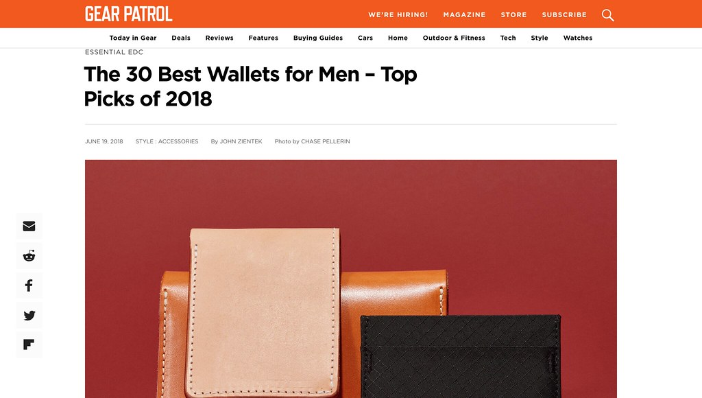 GALLEON is Nominated for The 2018 Best Trucker Wallets by Gear Patrol! 03922b896