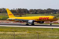 DHL (European Air Transport) Boeing 757-2Q8(SF)  |  D-ALEQ  |  LMML