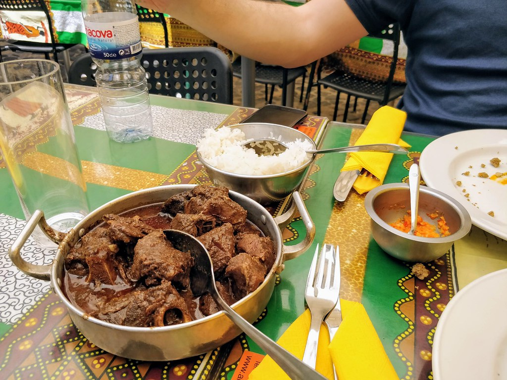 Lamb stew in coconut sauce