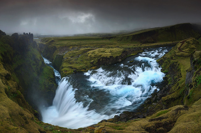 Waterfall in the Highlands (Iceland)