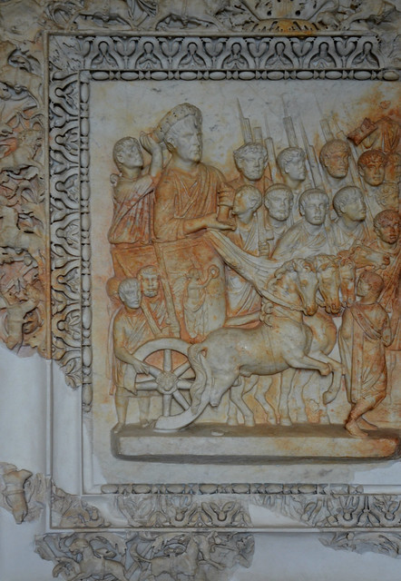 Relief with scene of Trajan's posthumous Parthian triumph in 118 AD, from Praeneste, Palestrina, Museo Archeologico