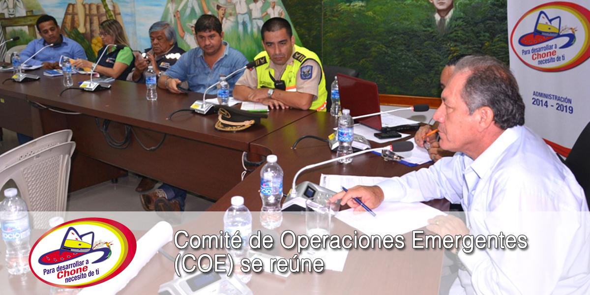 Comité de Operaciones Emergentes (COE) se reúne