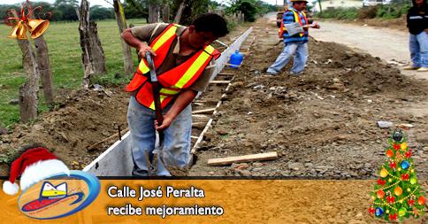 Calle José Peralta recibe mejoramiento