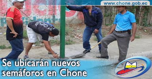 Se ubicarán nuevos semáforos en Chone