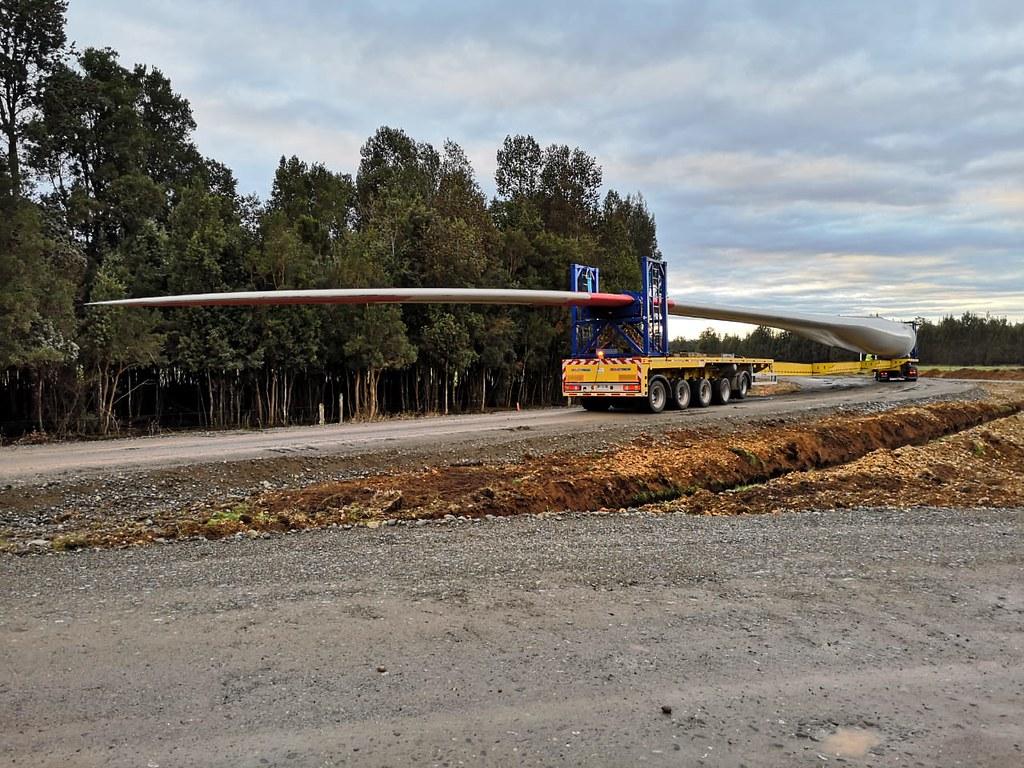 Blade transportation to Aurora wind farm, Chile