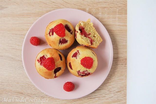 muffins pistache framboise sans gluten sans lactose