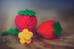 Strawberry Erasers by lynne186