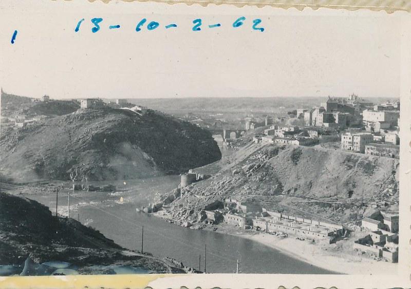 Río Tajo en octubre de 1962. Fotografía de Julián C.T.