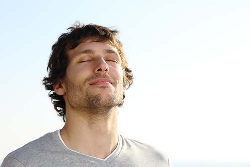 Thinking Visualizing dreaming Attractive man breathing outdoor - Credit to https://electrosawhq.com/