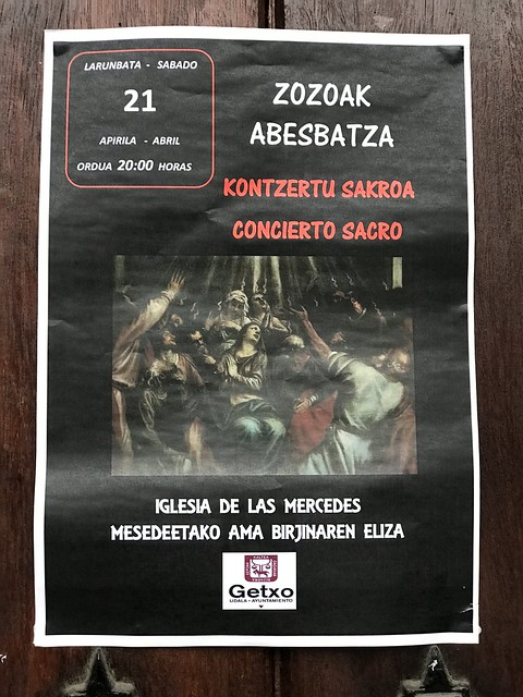 Concierto Sacro de Zozoak Abesbatsa en Getxo