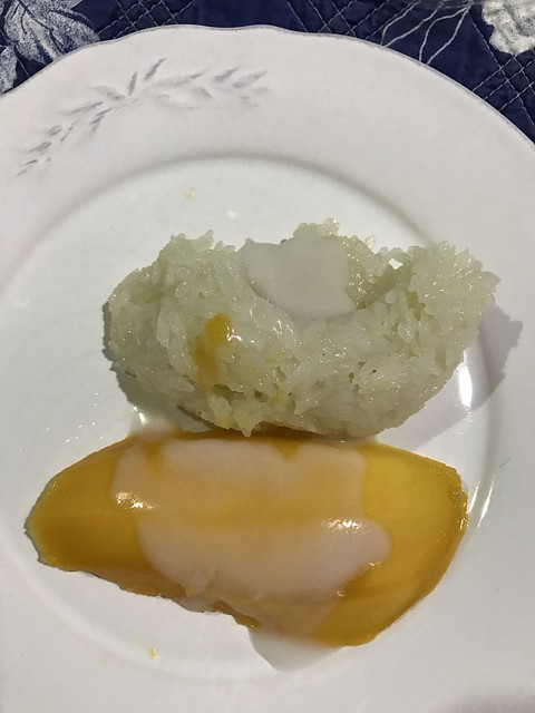 sticky rice with mango,  March 27, 2018