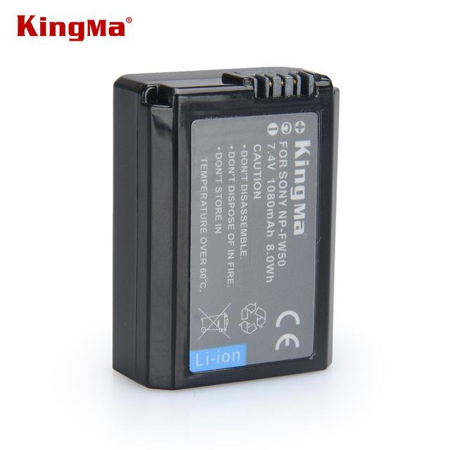 Pin sạc KingMa 1080 mAh Sony NP-FW50 cho máy ảnh  A6000 A6300 A6500