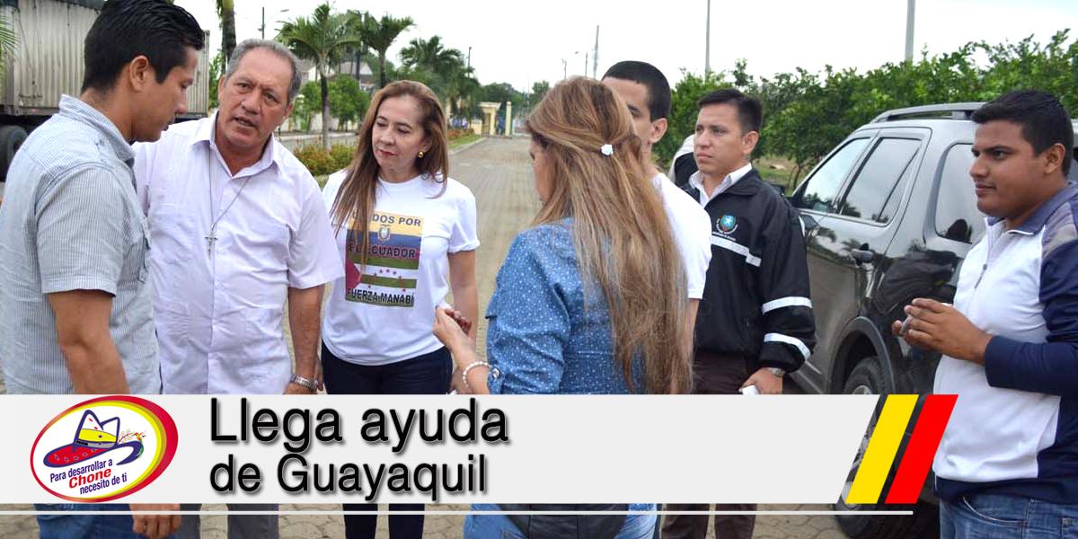 Llega ayuda de Guayaquil