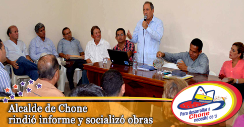 Alcalde de Chone rindió informe y socializó obras